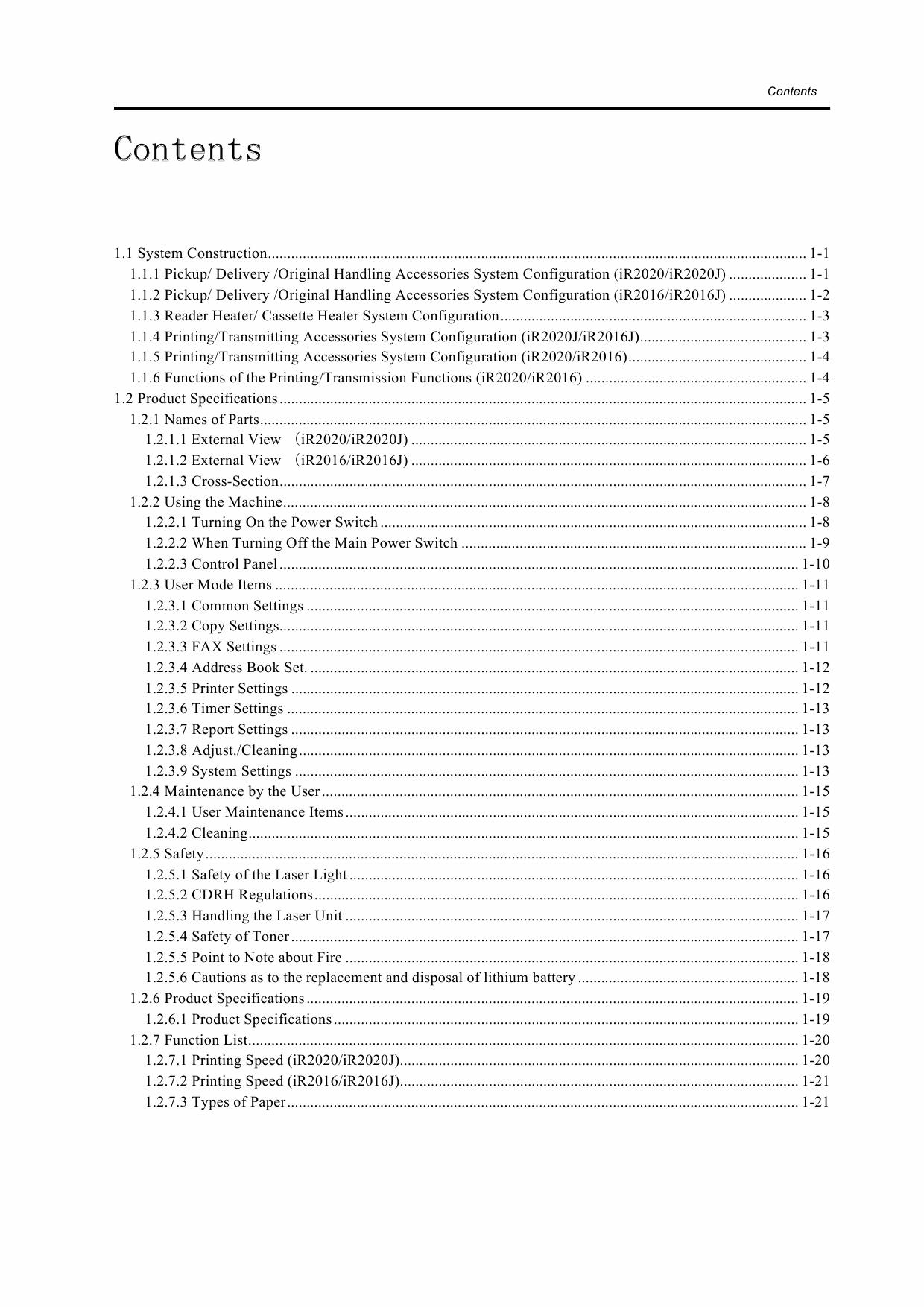 Canon imageRUNNER-iR 2020 2016 J Service Manual-2